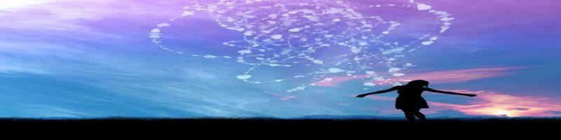 coeur sur fond de nuages
